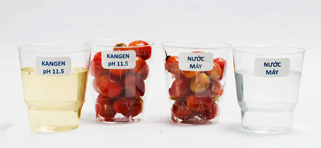 Nước kangen có thể loại bỏ thuốc trừ sâu trên rau củ quả