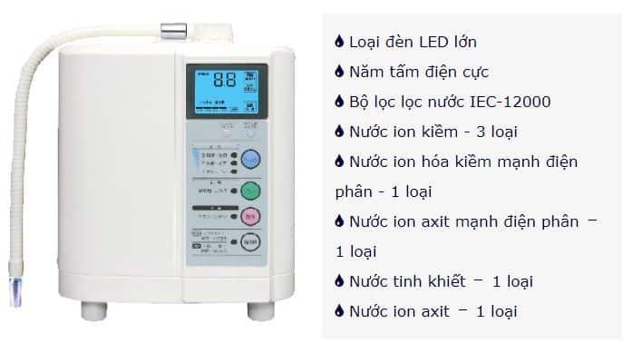 Thông số máy điện giải EXCEL-JX (MX-77)