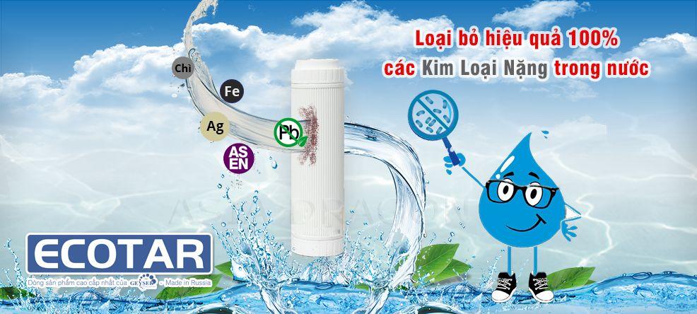 Ecotar 3 lọc bỏa tất cả các kim loại nặng trong nước