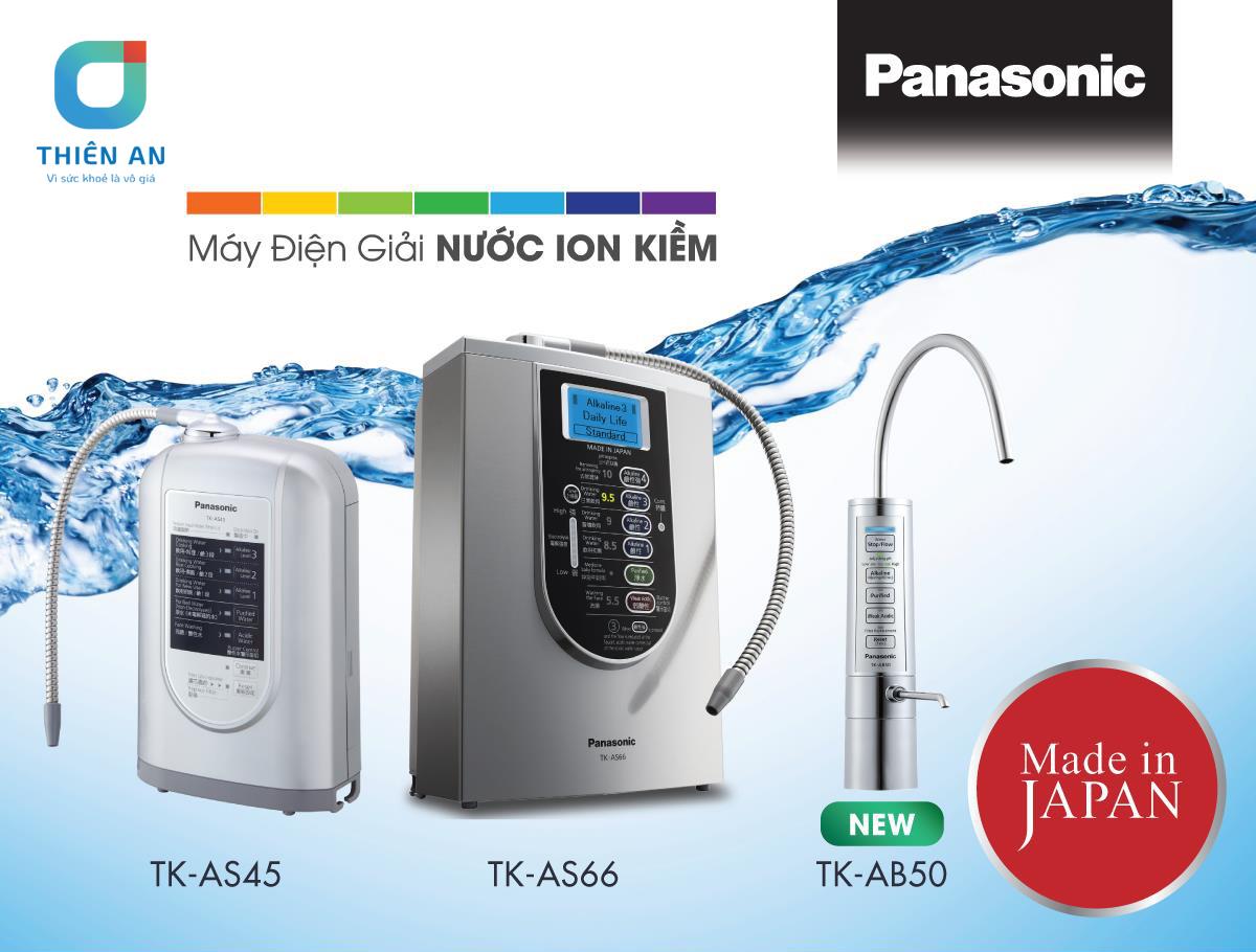 3 máy lọc nước ion kiềm Panasonic tốt nhất hiện nay