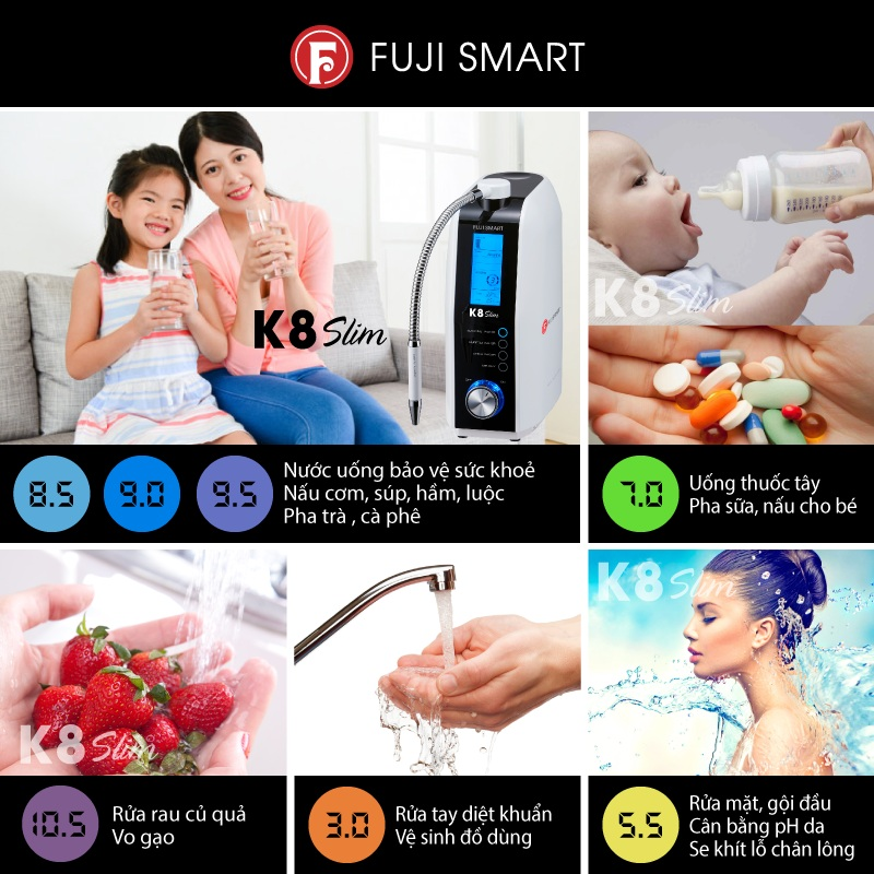 Lợi ích khi uống máy lọc nước ion kiềm Fuji Smart