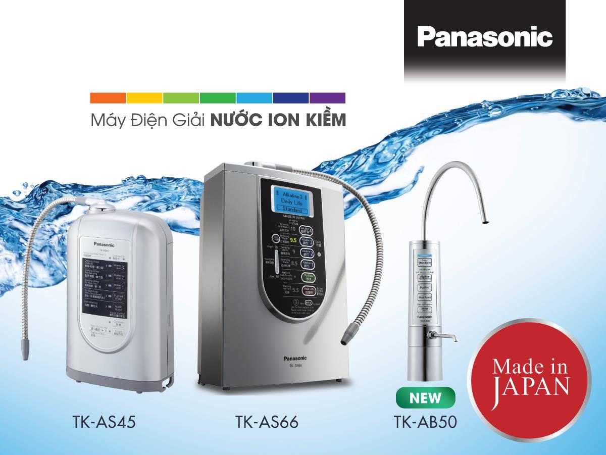 Top 3 máy lọc nước ion kiềm Panasonic tại Việt Nam